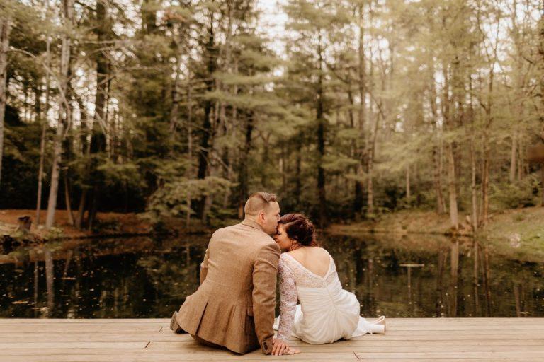 Bride-Groom-by-the-stream-magnolia-stream-side-resort